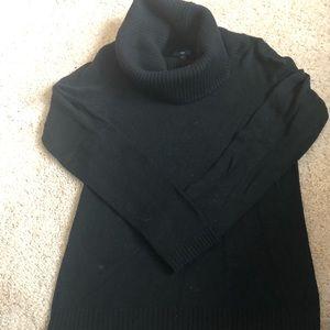 Gap black cowl neck sweater size M